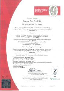 2020 certificate FSSCv5 UKAS eng HU004758 Pannon Fine Food Kft